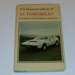 The Observer's Book of Automobiles book #21 1975